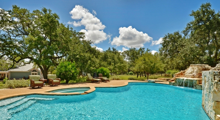 Pool with House 690 Autumn Lane Dripping Springs Sandy Cary